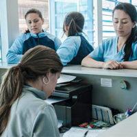 administración y centros de salud